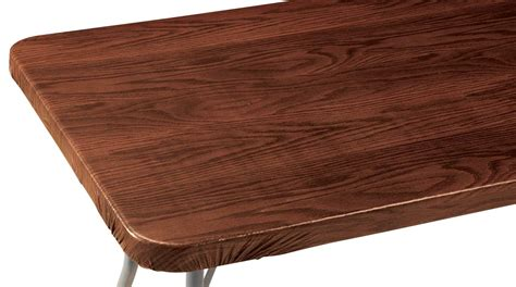 wood grain elasticized table cover by miles kimball ebay