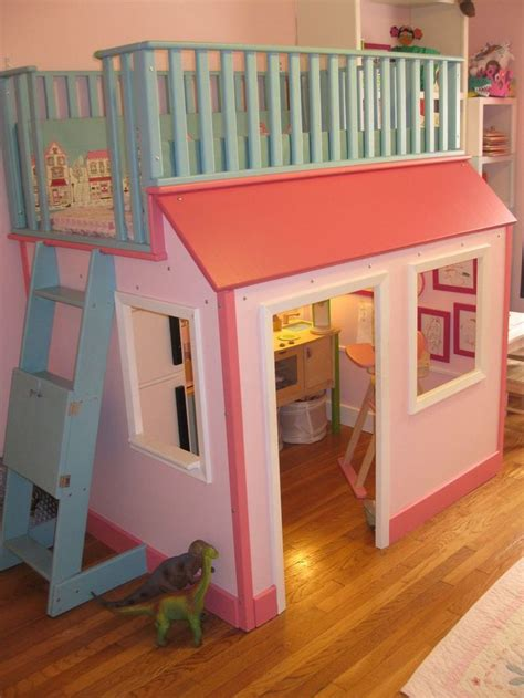 playhouse loft bed playhouse bed girls room inspiration pinterest