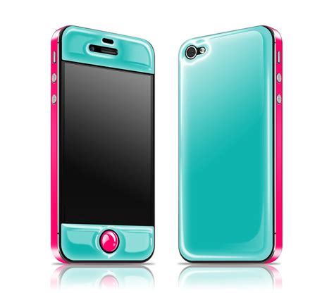 Hardcase Iphone Samsung Casing Iphone Samsung Glow In The iphone 4 teal neon pink glow in the glow gel combo adaptation