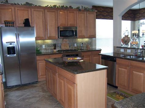 maple cabinets with granite countertops kitchen countertops