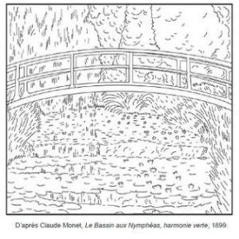 coloring pages monet s water lilies 71 coloriages d œuvres d artistes peintres 224 imprimer
