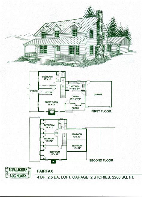 log cabin floor plans with garage log home package kits log cabin kits fairfax model