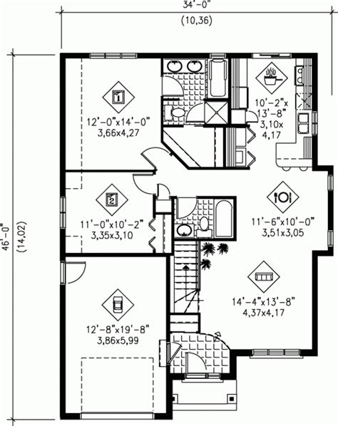 traditional style house plan 3 beds 2 00 baths 2095 sq cool floor plans for 1100 sq ft home new home plans design