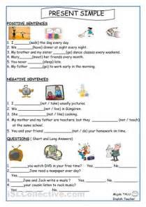 present simple for kids worksheets printable