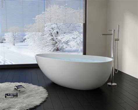 Modern Bathroom With Tub Modern Egg Shaped Resin Freestanding Bathtub Bw 01