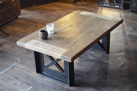 Table Bois Industriel by Table Basse Bois Acier Style Industriel Sur Mesure