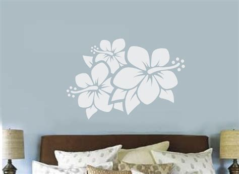 wall stickers teenage bedrooms hibiscus flower vinyl decal wall sticker teen bedroom decor hawaiian flower ebay