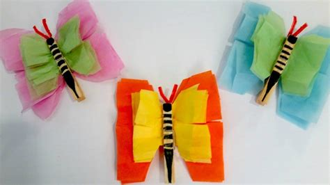 easy paper craft tissue paper crafts for preschoolers gallery craft