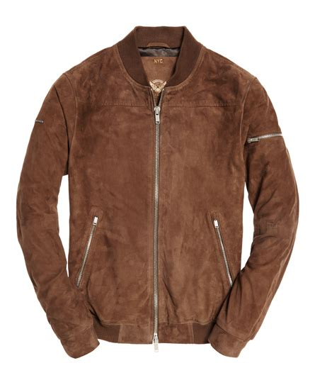 Superdry Suede Bomber Jacket mens slim suede bomber jacket in taupe superdry