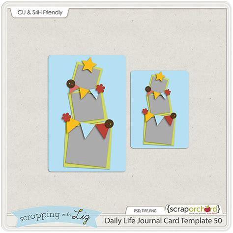 digiscrap card template freebie quality digiscrap freebies daily journal card