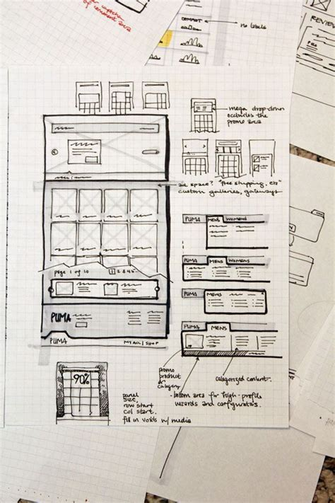 Sketches And Wireframes by 50 Best Images About Portfolios On