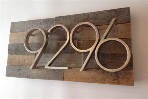 Handmade House Numbers - rustic address plaque made from reclaimed wood rustic