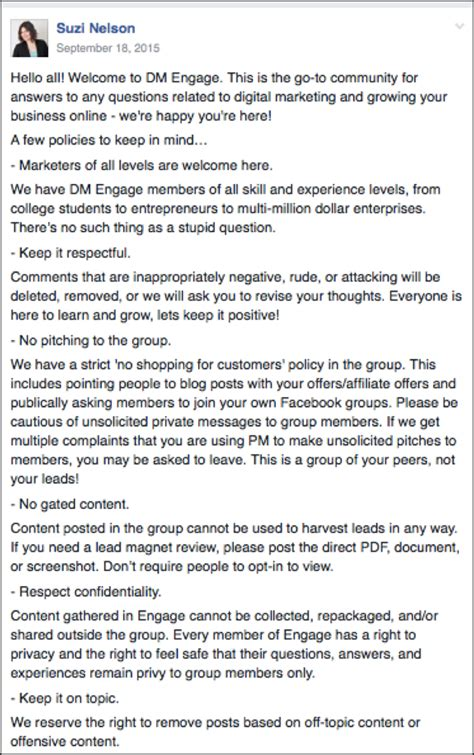 fb group how to build and manage a private facebook group 6 elements