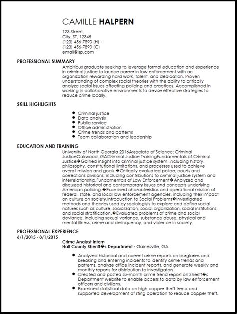 Entry Level Officer Resume Templates by Free Entry Level Enforcement Resume Template Resumenow