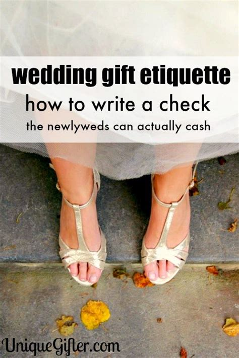 Wedding Gift Or Check by Cheque Mate Wedding Check Writing Tips Unique Gifter