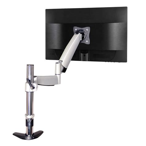 desk mount arm for flat panel monitor qualgear 3 way articulating single monitor desk mount for