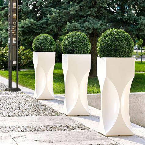 vasi bianchi da esterno vasi di design per esterno serie venezia vendita