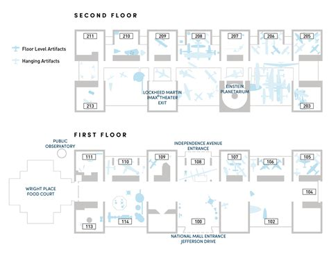 smithsonian floor plan floor plan guides national air and space museum