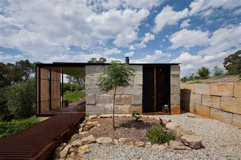 concrete block houses archier recycles 270 concrete blocks to create sawmill