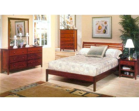 light cherry bedroom furniture alpine bedroom set in light cherry portola alpb 11set