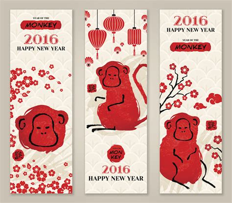 new year monkey card template and craft creative