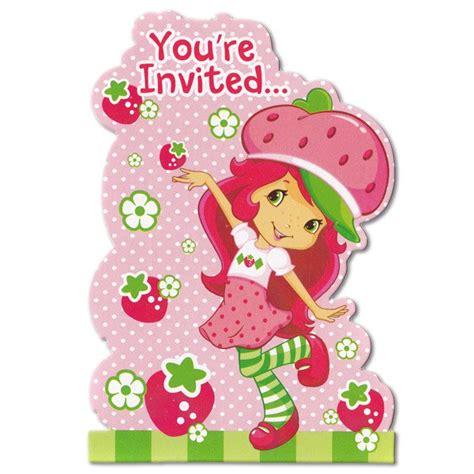 Strawberry Shortcake Birthday Invitations Strawberry Shortcake Invitation Template Free