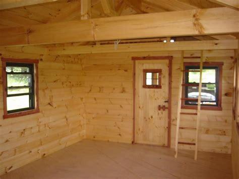 Pine Interior Walls by Trophy Amish Cabins Llc Interiors