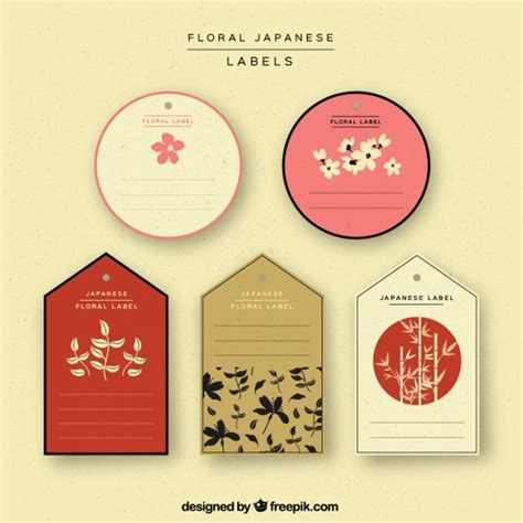 Etiketten Japan by Selection Of Japanese Labels Vector Free