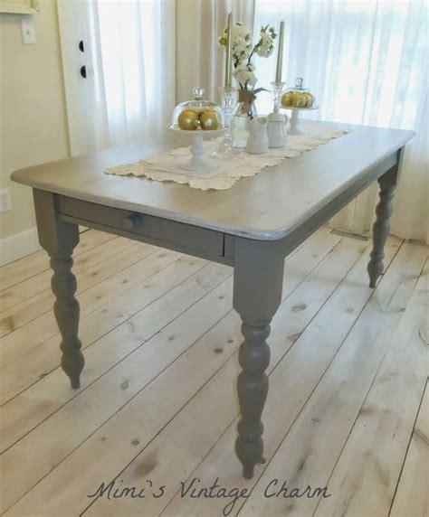 chalk paint kitchen table mimi s vintage charm farmhouse table in linen