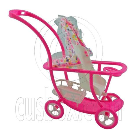 New Pink Plastic Walker 1 6 For Doll S House Dollhouse Miniatur doll baby stroller strollers 2017
