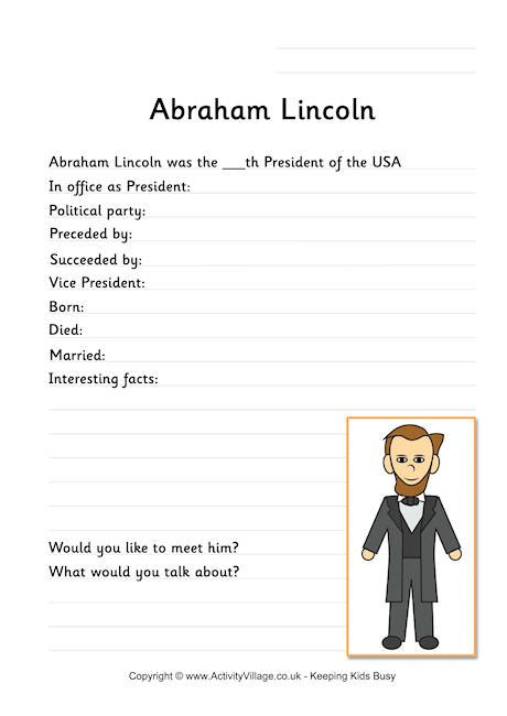 biography of abraham lincoln worksheet abraham lincoln printables cake ideas and designs