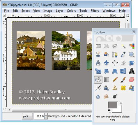 design website layout using gimp create a collage in gimp 171 projectwoman com