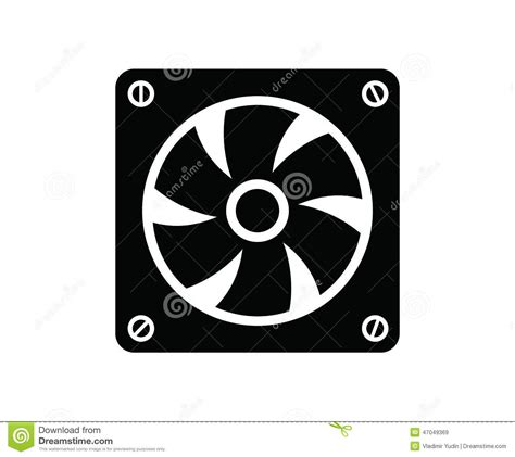 image of a fan computer fan stock vector image 47049369