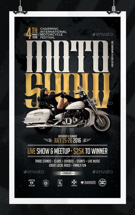 Motorcycle Show Flyer Template Template Flyers And Psd Show Templates