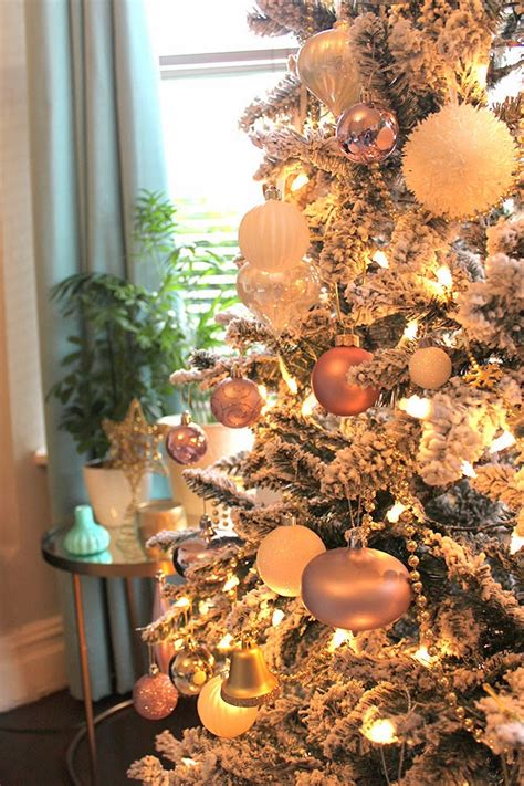the obligatory christmas tree pictures in blush pink
