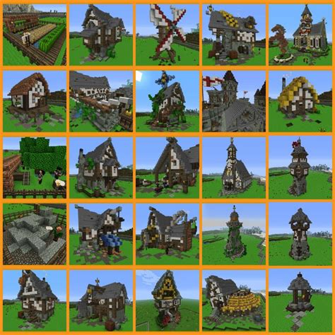 Blueprints For A House Minecraft Medieval Village Simple Google Search