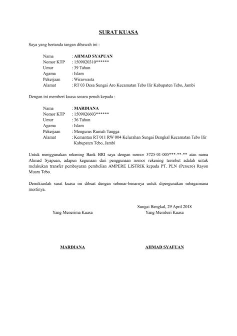 Surat Keterangan No Rekening Perusahaan – Carles Pen