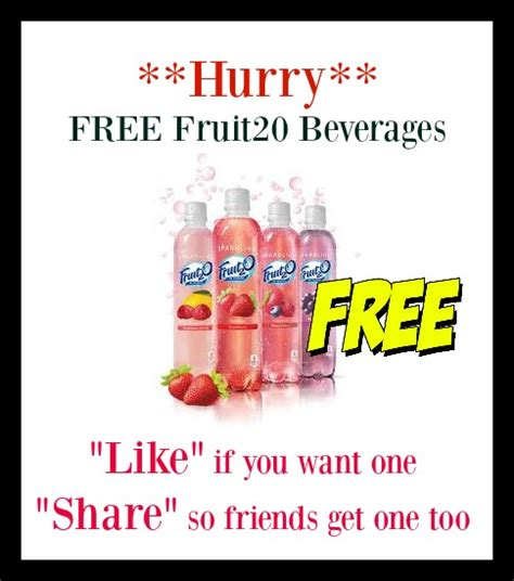 fruit2o coupons free sle fruit2o beverage canada hurry while they last