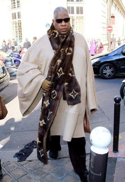 Andre Talley His Louis Vuitton Monogram Purse by Louis Vuitton Monogram Fur Mink Scarf Andre Talley