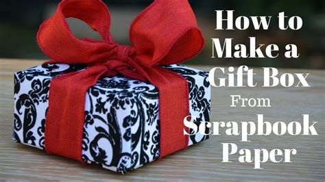 How To Make A Scrapbook With Paper - how to make a gift box from scrapbook paper diy crafts