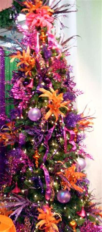 orange christmas tree on pinterest purple christmas tree