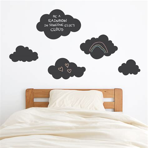 chalk wall stickers clouds chalkboard wall decal