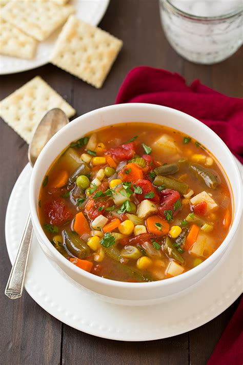types of vegetable soups types of veg soups