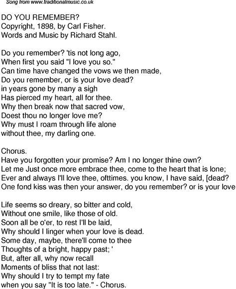 jmsn do you remember the time lyrics old time song lyrics for 61 do you remember