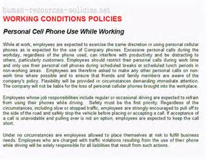 mobile phone policy template sle human resources policies sle procedures for