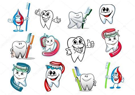 imagenes animadas de odontologia dibujos animados diente higiene conjunto vector de stock