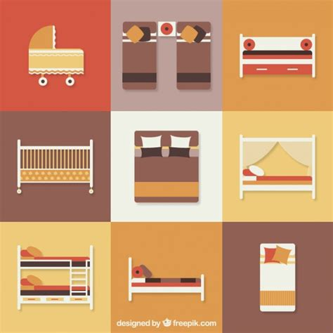 free bed bed icons vector free