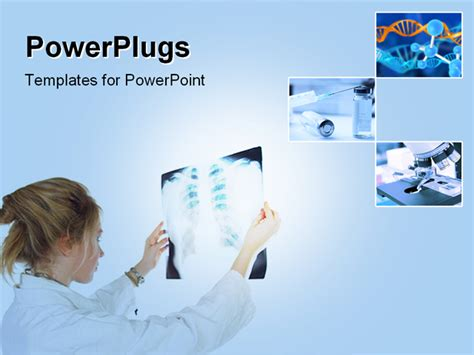 powerpoint templates free radiology powerpoint template a lady wearing a lab coat holding up