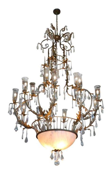 Hurricane L Chandelier Hurricane L Chandelier Antique Brass Hurricane Hanging Light Chandelier Shade Glass Prisms