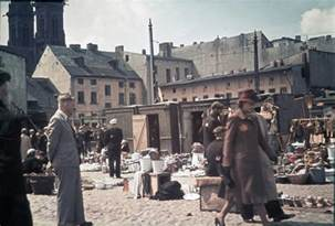 Vintage everyday life at the lodz ghetto in 1943